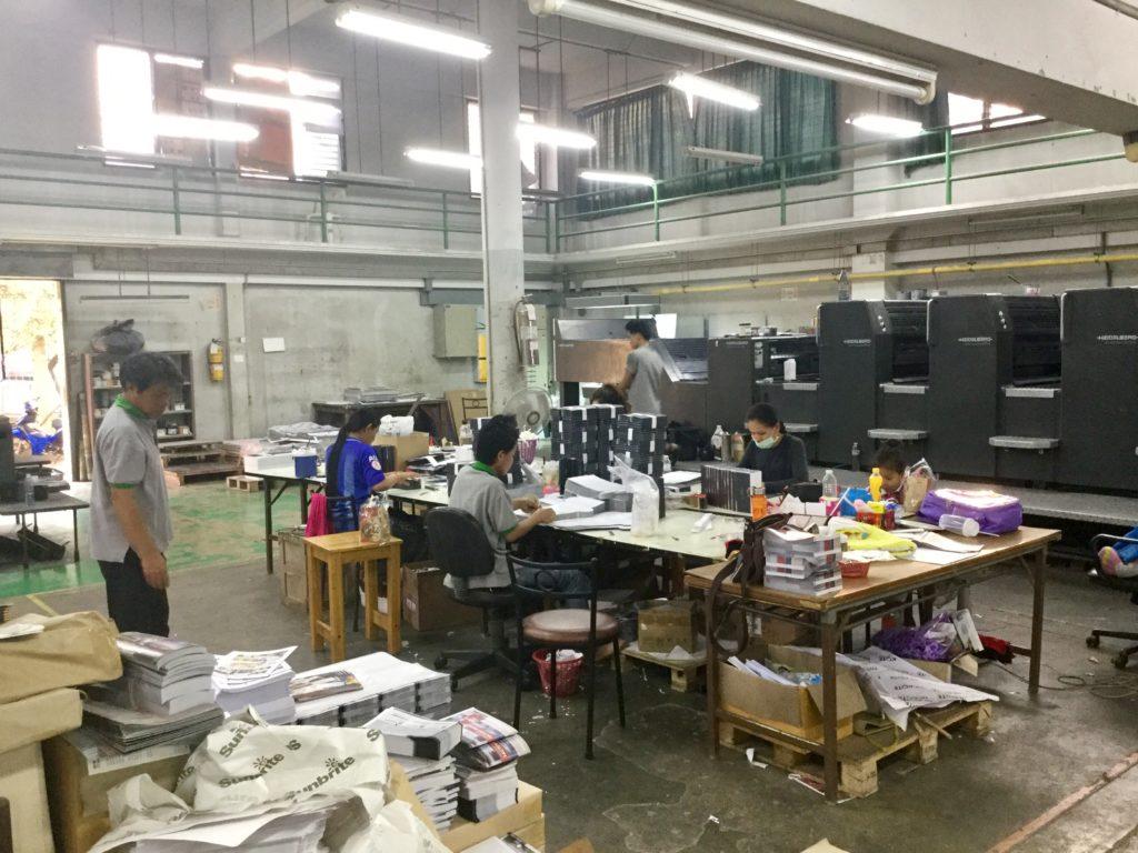 Услуги типографии и полиграфии в Таиланде